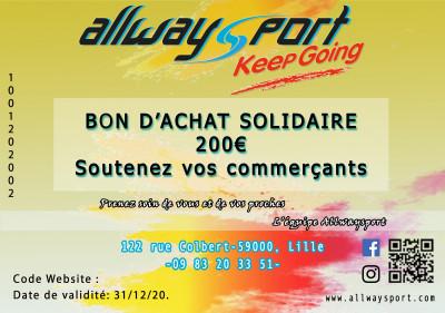 Bon d'Achat Solidaire 200€