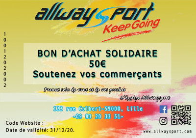 Bon d'Achat Solidaire 50€